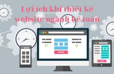 lợi ích thiết kế website ngành kế toàn