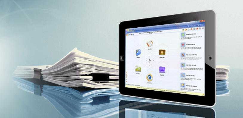 sử dụng phần mềm quản lý văn bản