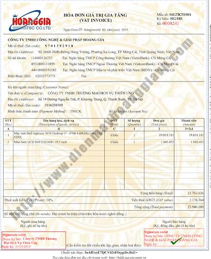 Thủ tục phát hành hóa đơn điện tử